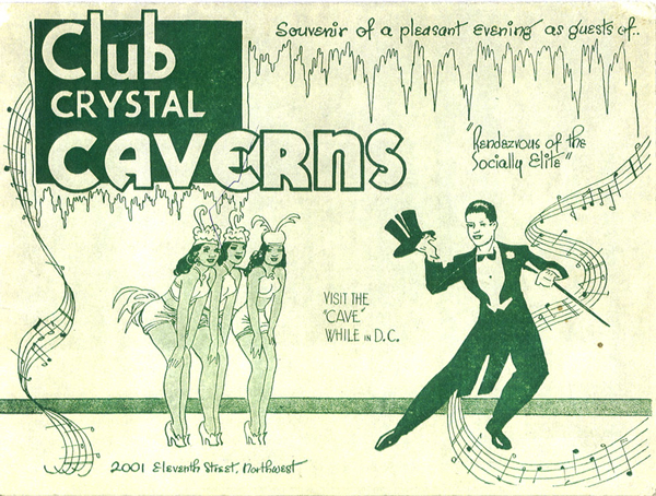 Advertisement for Bohemian Caverns, formerly Club Crystal Caverns