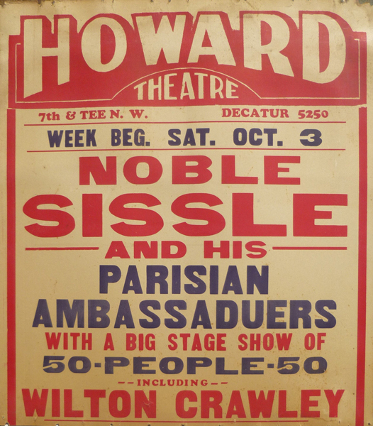 Poster for Concert at Howard Theatre