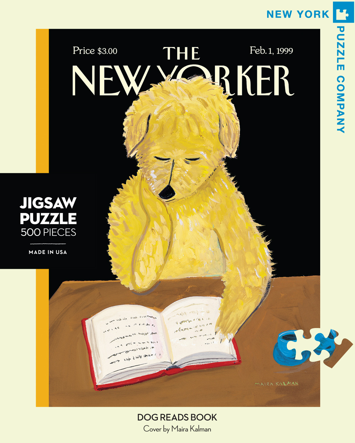 new yorker dog reads book puzzle politics and prose bookstore