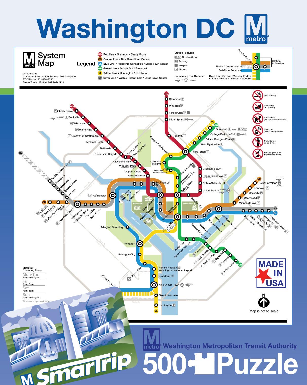 Dc Metro Map Puzzle Politics And Prose Bookstore